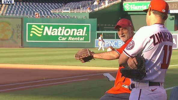 Jose Andres throws out first pitch at Nationals game