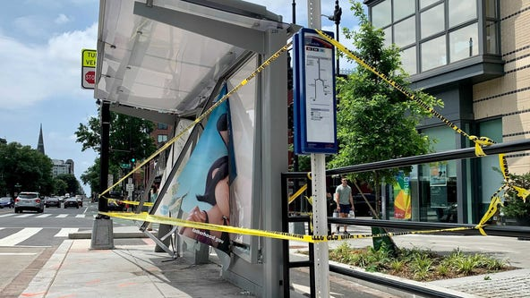 Alleged drunk driver kills man on sidewalk after crashing into DC bus stop, police say