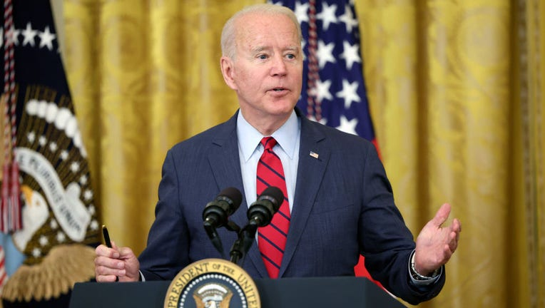 WASHINGTON, DC - JUNE 24: U.S. President Joe Biden delivers remarks on the Senate's bipartisan infrastructure deal at the White House on June 24, 2021, in Washington, D.C. (Photo by Kevin Dietsch/Getty Images)