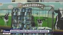 Rising prices of consumer goods