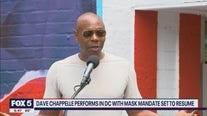 Dave Chappelle performs in DC with mask mandate set to resume