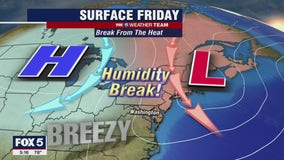 FOX 5 Weather forecast for Friday, July 30