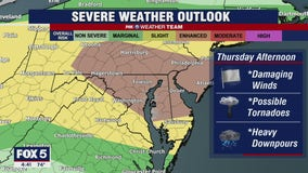 FOX 5 Weather forecast for Thursday, July 29