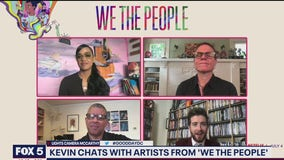 Kevin talks with artists from We The People