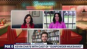FOX 5's Kevin McCarthy talks to the cast of Gunpowder Milkshake