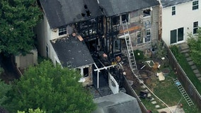 2-alarm fire damages homes in Frederick