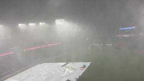 VIDEO: Tornado warning, heavy downpour halts Washington Nationals game