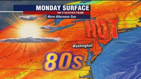 Monday mix of clouds and sunshine with highs in the upper-80s