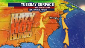 Hazy, hot and humid Tuesday with highs in the mid-90s