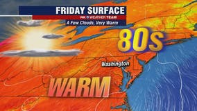 Sunshine, low humidity and comfortable temperatures in the 80s; possible weekend isolated storms