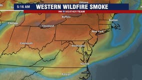 Wildfire smoke from the west filters sunshine in the DC region Tuesday and Wednesday