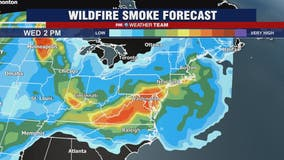 Wildfire smoke brings haze to skies over DC region Wednesday; evening isolated storms possible