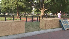 Lafayette Square historical markers recognize slave labor during construction of White House