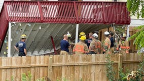 3 rescued after deck collapses in Rockville, 2 hospitalized