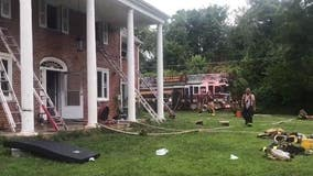 2 rushed to hospital with life-threatening injuries after Prince George's County fire