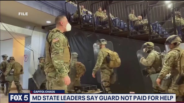 MD State leaders say National Guard has not been paid for time during Capitol riots