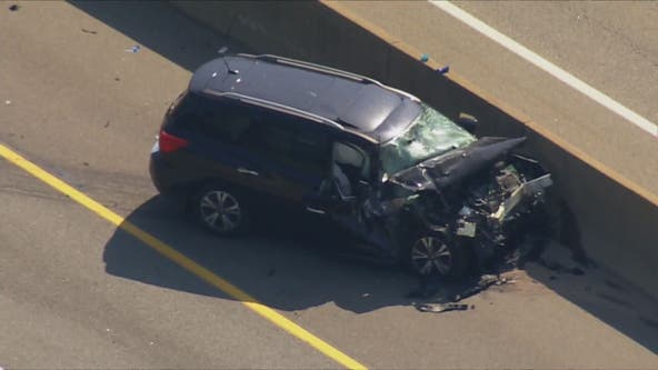 Stolen car crashes into tanker truck during pursuit on I-95 in Fairfax County, police say