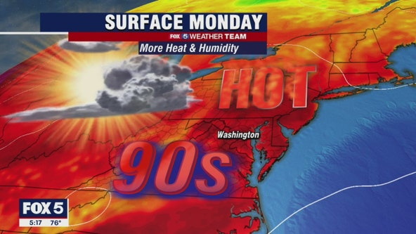 Hot and humid Monday with possible afternoon, evening thunderstorms