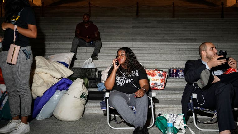 Rep. Cori Bush Sleeps Outside Capitol Building In Push To Extend Federal Eviction Moratorium