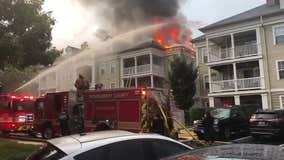 Dozens displaced, several injured after lightning strike sparks Germantown apartment building blaze: officials