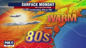 FOX 5 Weather forecast for Monday, August 2