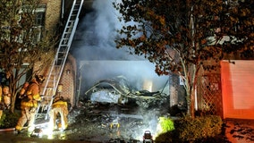 Fairfax County townhouse fire leaves one injured; nearby homes with damage