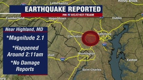 Small earthquake recorded near Columbia, Maryland overnight