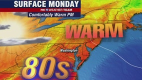 Sunny, warm and dry Monday with highs in the 80s