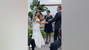 VIDEO: DC Mayor Bowser officiates large wedding after new indoor mask mandate
