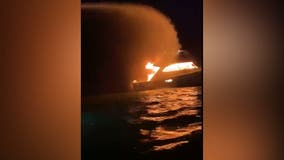Ocean City firefighters rescues 7 from burning boat