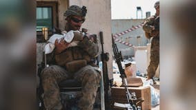 Maryland Marine goes viral for calming infant during evacuation in Kabul