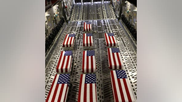 Hearse of fallen service member killed in Afghanistan passes through Fairfax County Friday