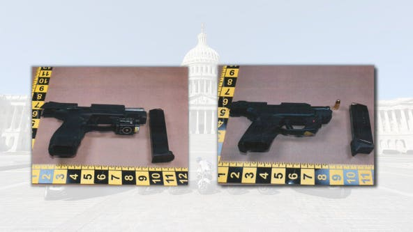 Two loaded guns seized by USCP officers near U.S. Capitol
