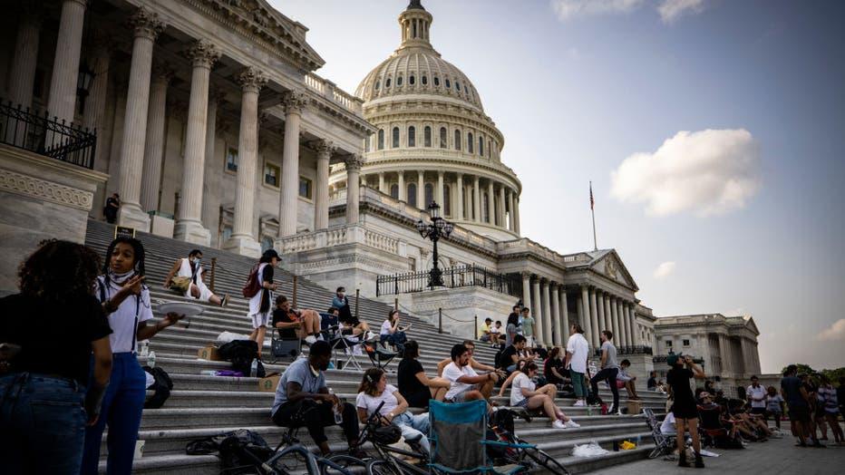 4d23e6d9-Rep. Cori Bush Sleeps Outside Capitol Building In Push To Extend Federal Eviction Moratorium