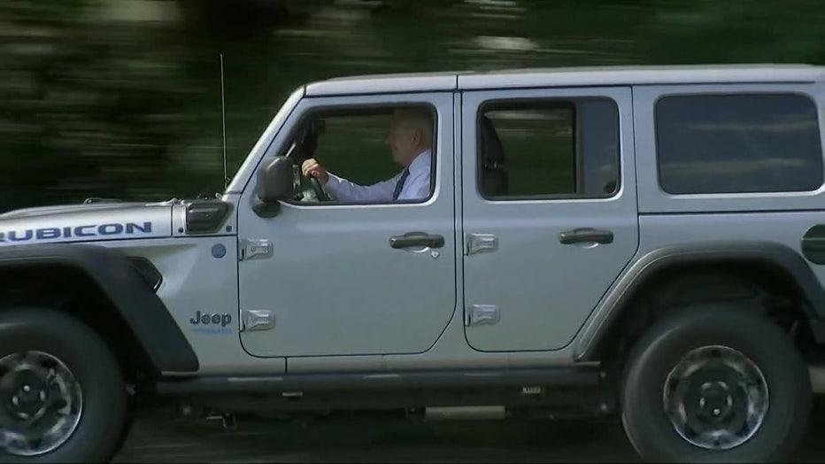 biden in jeep