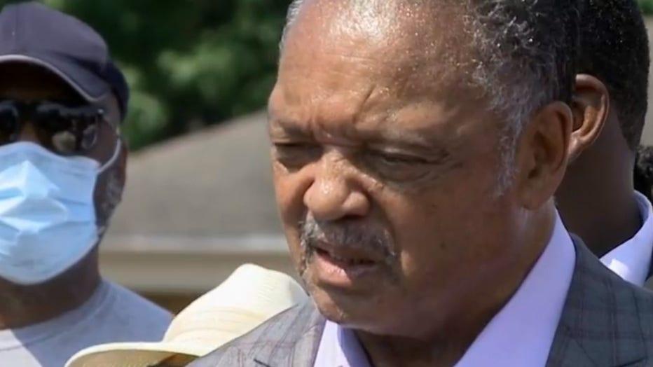 Rev. Jesse Jackson, Kenosha NAACP hold press conference to address shooting of Jacob Blake