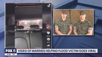 Marines rescue driver from flood water in incredible viral TikTok