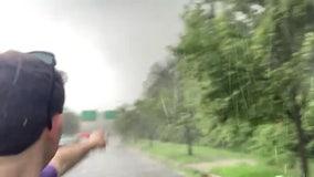 TORNADO CHASING: Matt Cappucci captured storm as it roared through Maryland