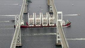 Bay Bridge shut down by cranes bound for the Port of Baltimore