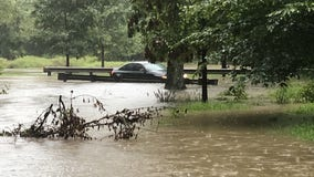 Flooded roadways, stranded vehicles as DC area sees heavy downpours Thursday