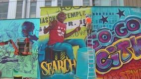 Northwest DC mural celebrates city's Go-Go music history