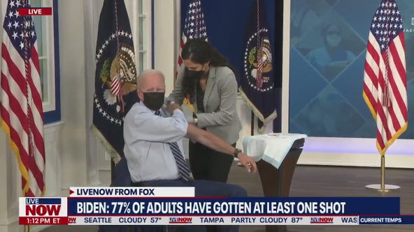 'Please do the right thing': Biden receives COVID-19 booster shot on camera Monday