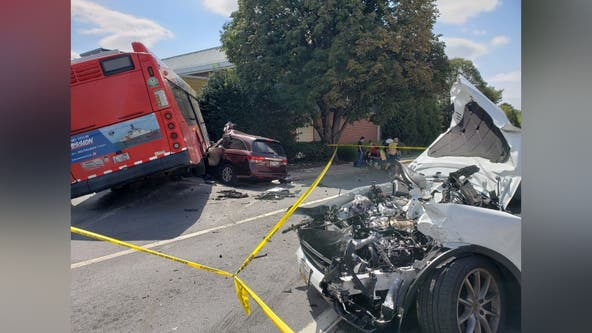 Multiple injuries, including child, in rollover crash involving a Metro bus on Rockville Pike