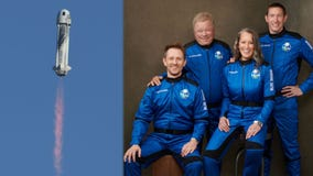 William Shatner launches into space aboard Blue Origin rocket