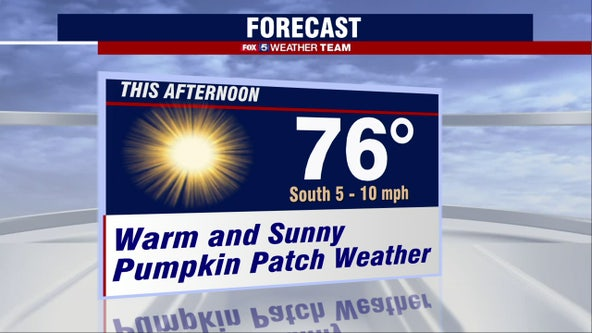Sunny, warm Thursday with highs in the 70s