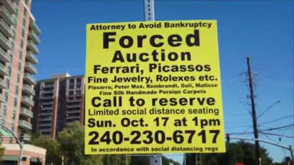 What are those 'forced auction signs' popping up in Montgomery County?