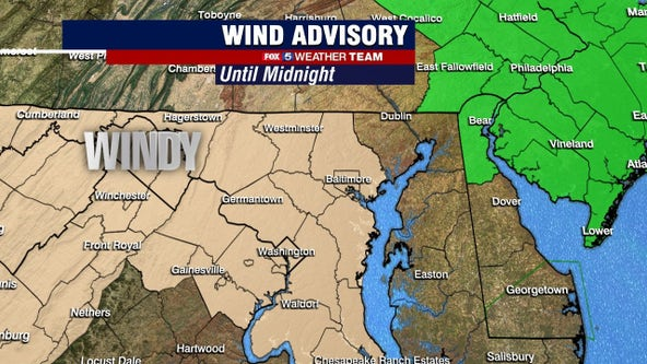 Blustery Tuesday with gusty winds and highs in the 60s