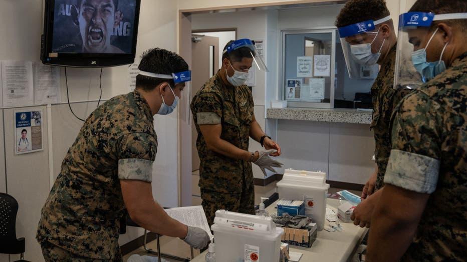 U.S Marines On Okinawa Receive Coronavirus Vaccination