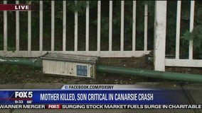 Mother killed, son critical in crash