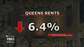 NYC rents fall